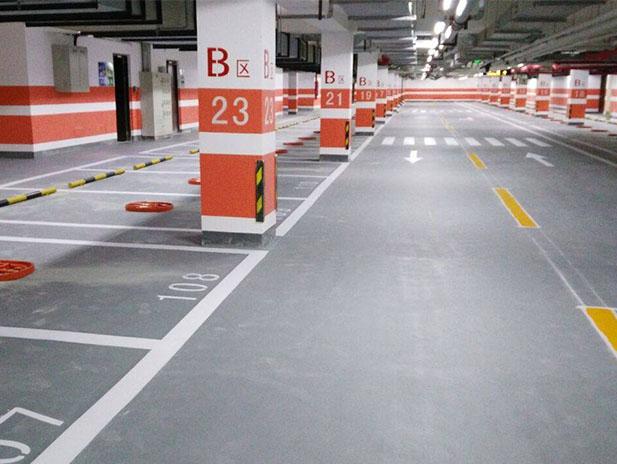 万达地下停车场划线